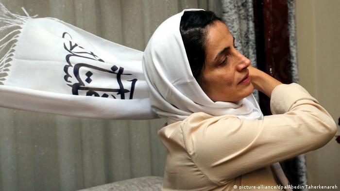 Nasrin Sotoudeh Aktivistin für Menschenrechte im Iran (picture-alliance/dpa/Abedin Taherkenareh)