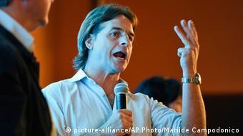 Luis Lacalle Pou Wahlkampf Uruguay (Foto: AP Photo/ Matilde Campodonico)