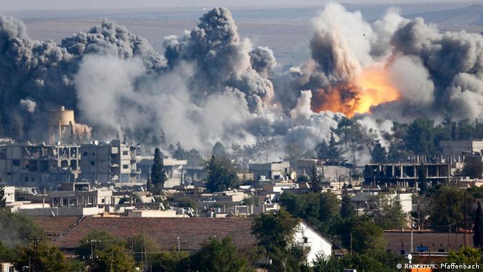 Kobani fighting, airstrikes 18.10.2014