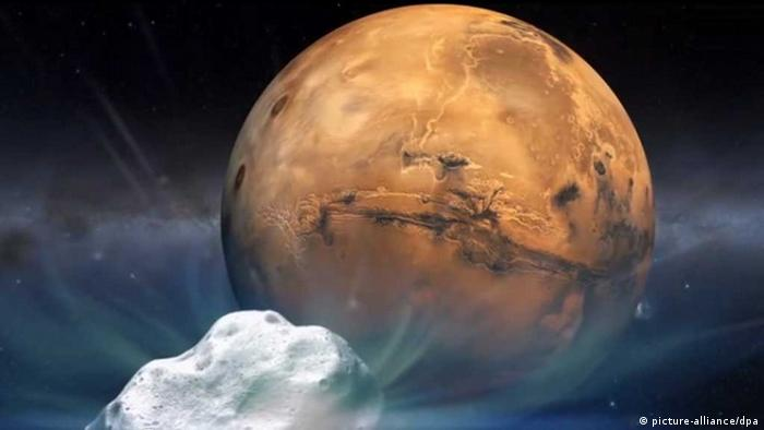 Treffen des Kometen Siding Spring mit dem Mars