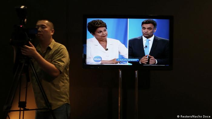 Brasilien TV-Duell Rousseff Neves 19.10.2014