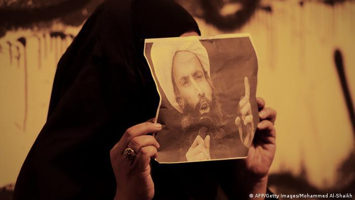 Proteste gegen die Verurteilung vom Geistlichen Nimr al-Nimr in Bahrain 15.10.2014