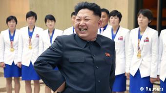 Kim Jong Un empfängt Sportler