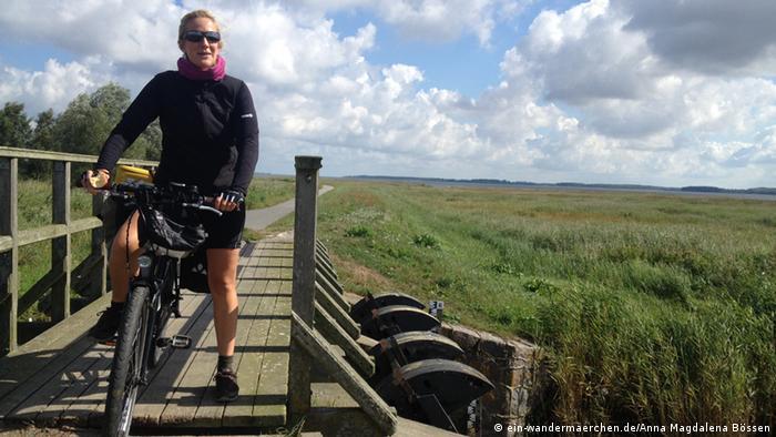Bössen has already biked more than 4,000 kilometers (2480 miles)