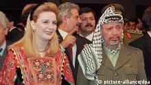 (FILES) File picture dated 24 November 1994 of Palestinian leader Yasser Arafat, accompanied by his wife Suha before receiving the Principe de Asturias Award in Oviedo, Spain. EPA/FILES Zu dpa Israel kritisiert Schweizer Untersuchung zu Arafats Tod) +++(c) dpa - Bildfunk+++
