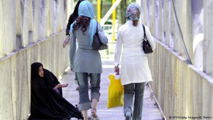 Obdachlose in Teheran