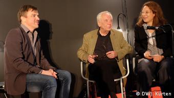 Jürgen Becker bei einer Buchpräsentation in Frankfurt 2014 (Foto: Jochen Kürten)