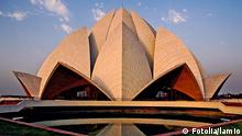 Lotus Temple (Baha'i House of Worship) in New Delhi. Lotus Temple was completed in 1986 by architect Fariborz Sahba. lamio - Fotolia