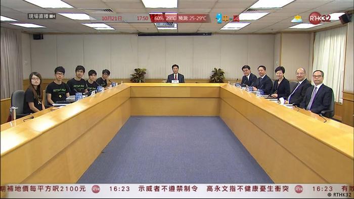 Dialoge HK Regierung und Studentenorganisation