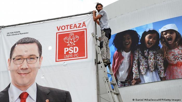 Wahlplakat der Sozialdemokratischen Partei Rumäniens PSD