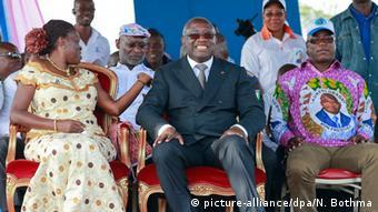 Laurent Gbagbo mit seiner Frau Simone