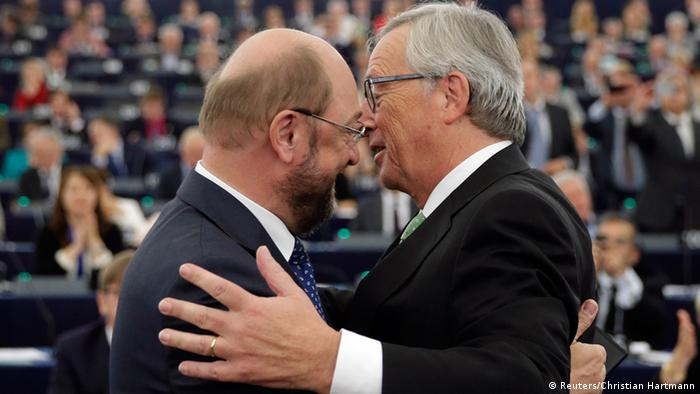 Juncker und Schulz im Europaparlament 22.10.2014