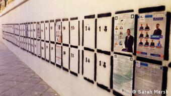 Wahlplakate an einer Mauer Copyright: Sarah Mersh