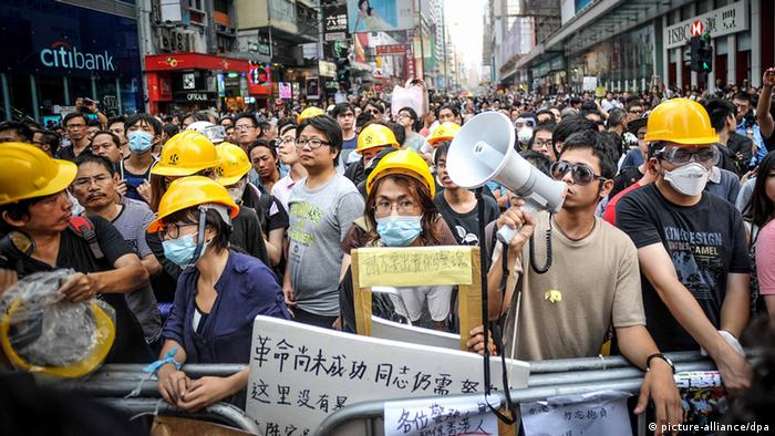 Hong Kong Occupy Central Demonstration 22.10.2014