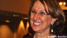 Rebeca Grünspan, Generalsekretaerin für Iberoamerika, Eurolat Meeting, Straßburg, 22.10.2014 Copyright: DW/M. Banchón