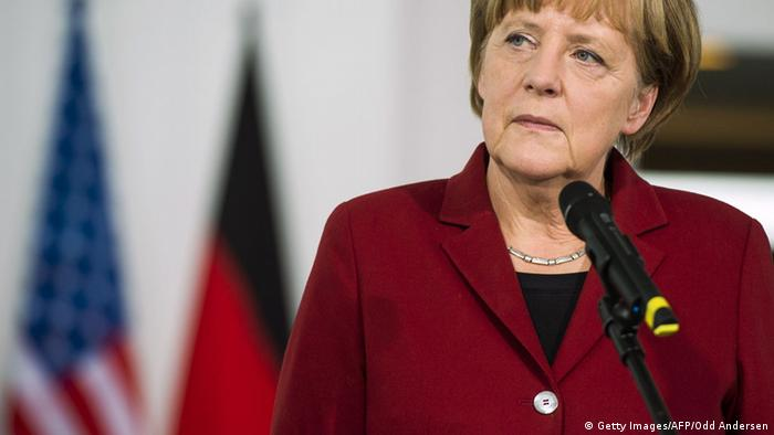 Angela Markel in Berlin 22.10.2014 Symbolbild USA Deutschland Beziehungen (Getty Images/AFP/Odd Andersen)