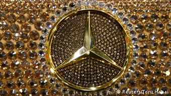 A customized Mercedes-Benz SL600, Luxury Crystal Benz, studded with 300,000 Swarovski crystal glass, is displayed at at Makuhari Messe in Chiba, in this January 15, 2010 file picture. Copyright: REUTERS/Toru Hanai/Files