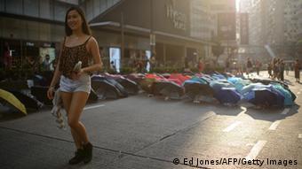 Hong Kong Protest und Kunstwerke 11.10.2014