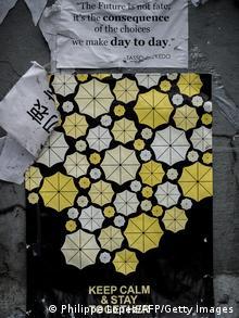 Hong Kong Protest und Kunstwerke 23.10.2014