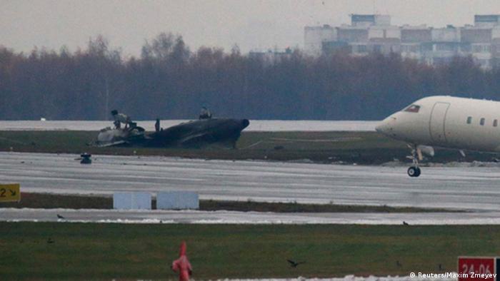 Обломки самолета Falcon, Внуково, 2014 г.