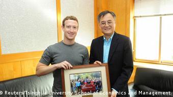 Zuckerberg bei Qian Yingyi 22.10.2014 Peking