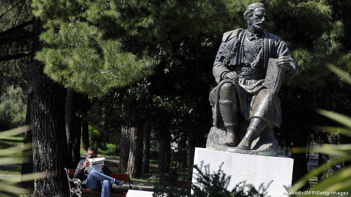 Denkmal des montenigrinischen Herrschers Petar Petrovic Njegos in Podgorica