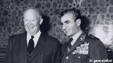 Eisenhower und Schah Mohammad Reza Pahlavi im Jahr 1959 President Eisenhower and Mohammad Reza Shah in Tehran Copyright: gemeinfrei http://de.wikipedia.org/wiki/Dwight_D._Eisenhower#mediaviewer/File:ShahEisenhower.jpg