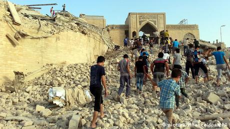 Grab des Propheten Jonahs in Mossul zerstört