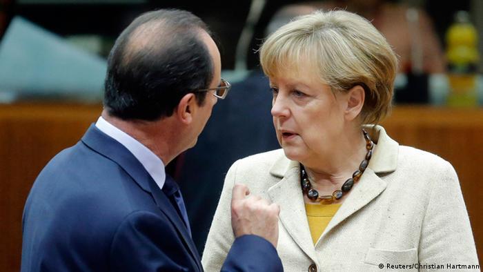EU Gipfel 24.10.2014 Merkel und Hollande