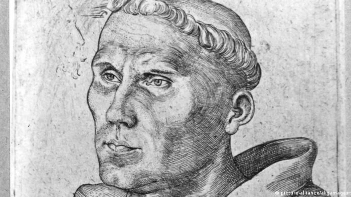 Lucas Cranach der Ältere: Martin Luther als Mönch (Ausschnitt)