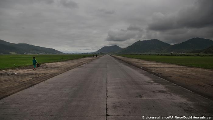 An open road in North Korea