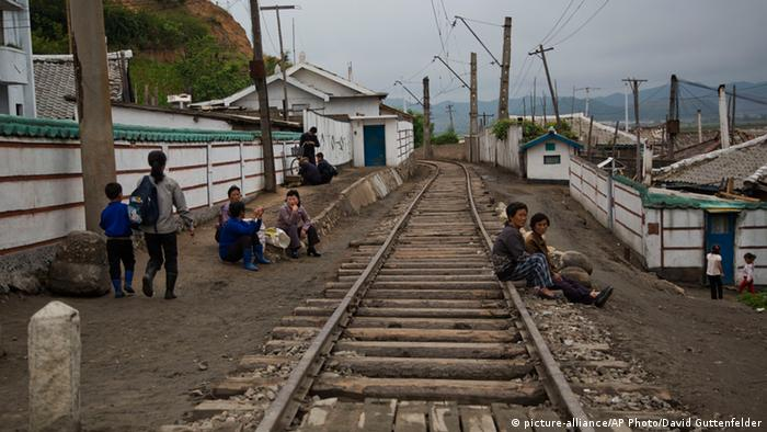 Railroad tracks in North Korea