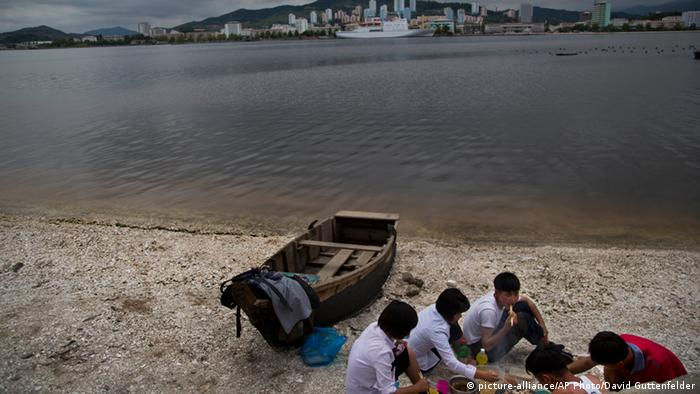 A picnic on the beach in Wonsan, North Korea