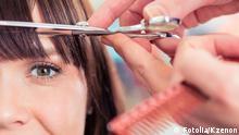 Friseur schneiden Haare