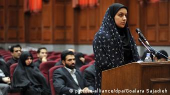 Iran Rejhaneh Dschabbari Prozess 15.12.2008 (picture-alliance/dpa/Goalara Sajadieh)