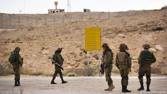 Grenze Israel Ägypten Sinai 22.10.2014