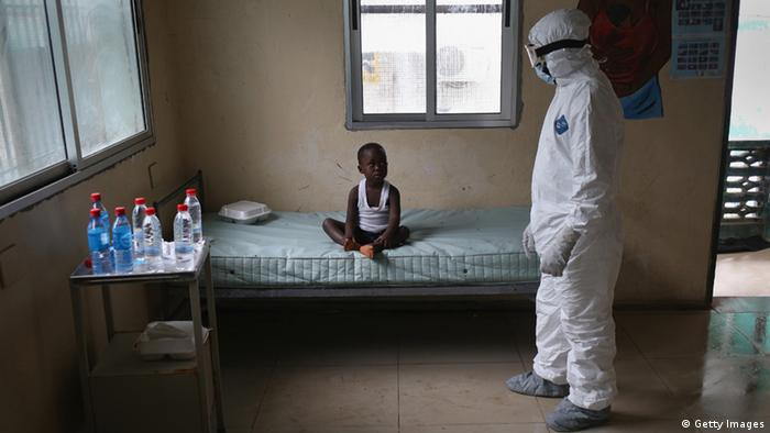 Ebola Patient in Monrovia (Foto by John Moore/Getty Images).