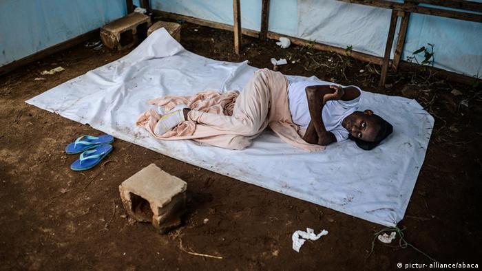 Ebola Patient in Monrovia Liberia