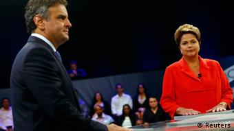 TV-Duell in Brasilien Dilma Rousseff vs. Aecio Neves