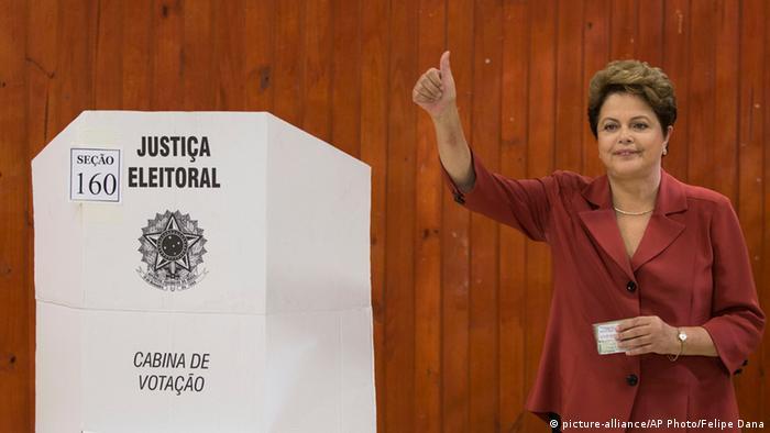 Brasilien Wahl 26.10.2014 Präsidentin Dilma Rousseff