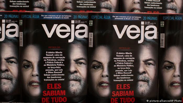 Titulares de la publicación Veja: Lo sabían todo.