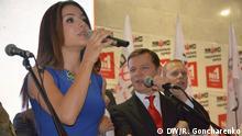 Zlata Ognevich singt mit Oleg Ljaschko die ukrainische Hymne