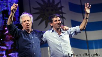 Tabare Vazquez und Raul Sendic Uruguay (Foto: EPA/ Ivan Franco)
