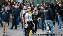 Köln Deutschland Hooligans Rechtsradikale Neo Nazis Salafismus Demonstration 26.10.