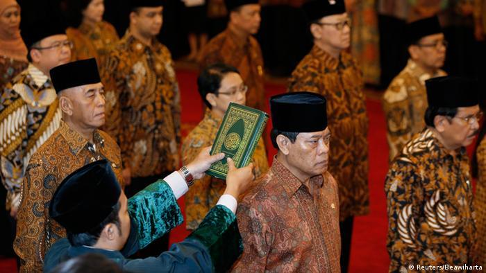 Joko Widodo Kabinett Vereidigung 27.10.2014