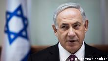 Israel's Prime Minister Benjamin Netanyahu attends the weekly cabinet meeting in Jerusalem October 26, 2014. REUTERS/Abir Sultan/Pool (JERUSALEM - Tags: POLITICS)