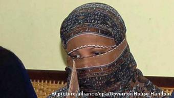 Asia Bibi, a Pakistani Christian minority woman, who was sentenced to death by a local court for blasphemy, at a prison in Sheikhupura, Pakistan (Photo: EPA/GOVERNOR HOUSE HANDOUT)