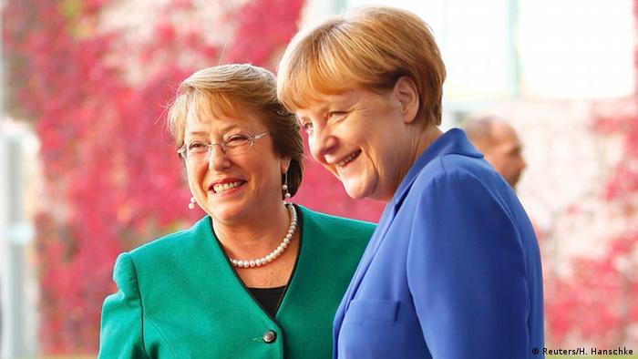 Angela Merkel and Michelle Bachelet in Berlin