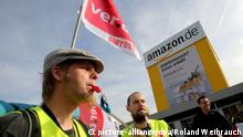 Streik bei Amazon in Rheinberg 27.10.2014 (picture-alliance/dpa/Roland Weihrauch)