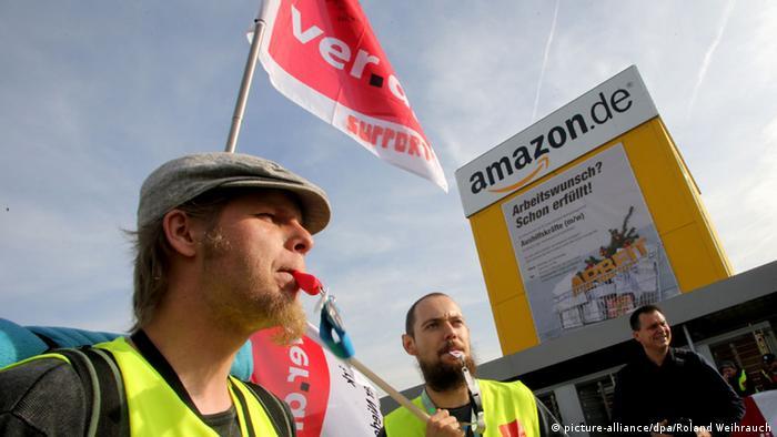 Streik bei Amazon in Rheinberg 27.10.2014